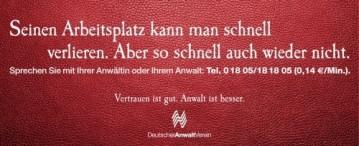 Deutscher Anwaltverein, Kündigungsschutz, Fachanwalt Arbeitsrecht